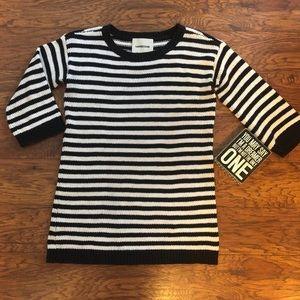Lands End Black & White Sweater